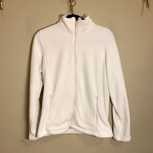 Uniqlo White Fleece Zip-Up